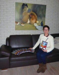 foto Ria met boek